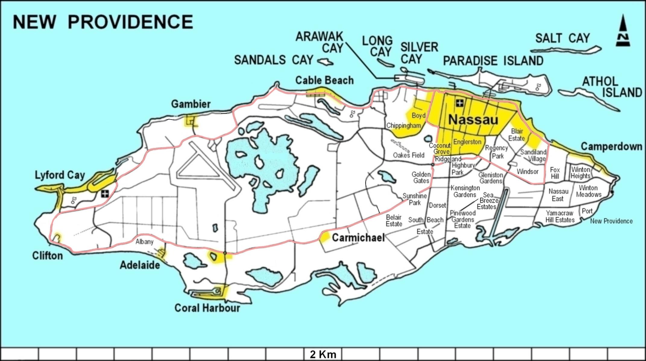 printable map of nassau bahamas Lyford Cay Wikipedia printable map of nassau bahamas