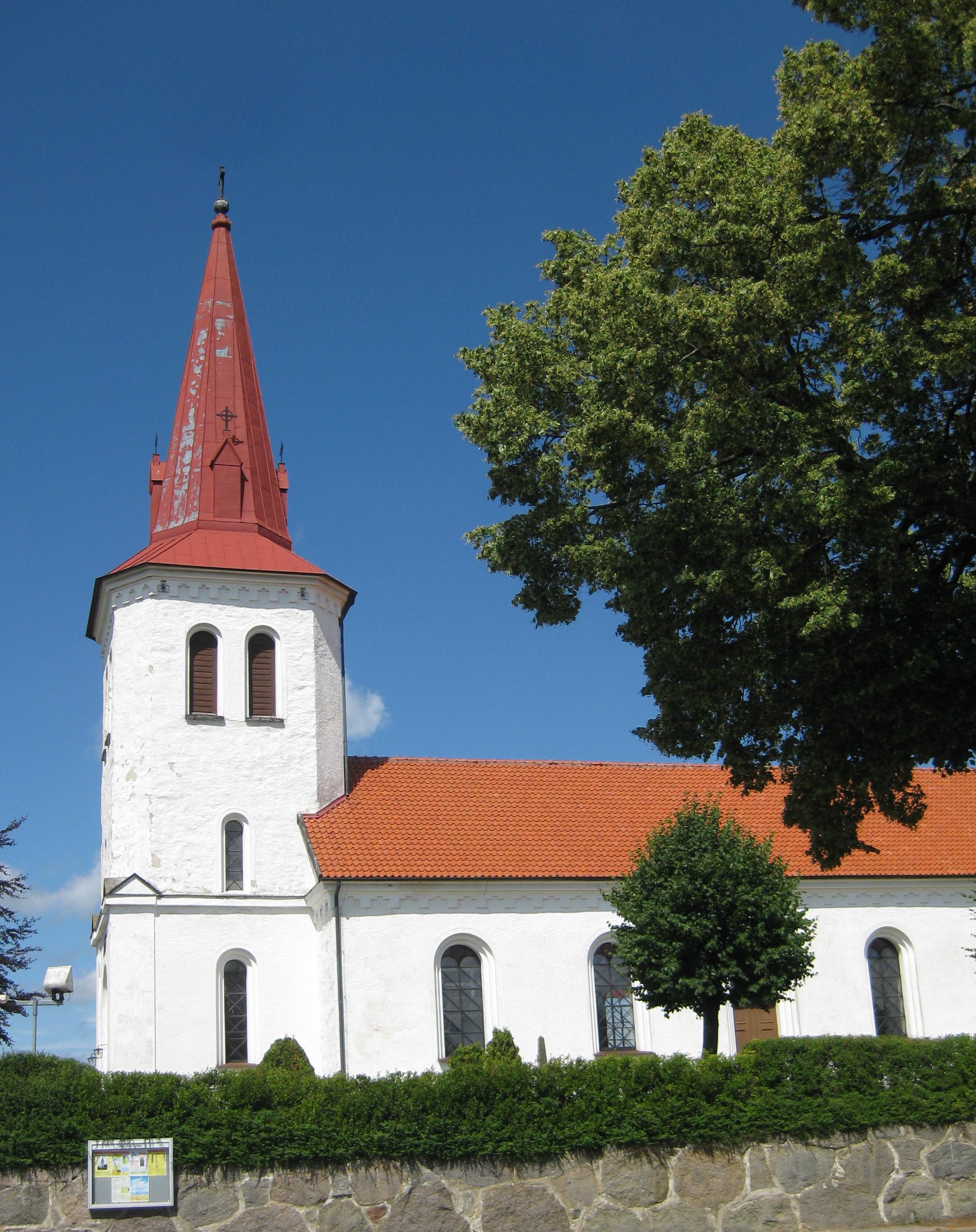 Bild av Rörums kyrka. Foto: Jorchr / GFDL