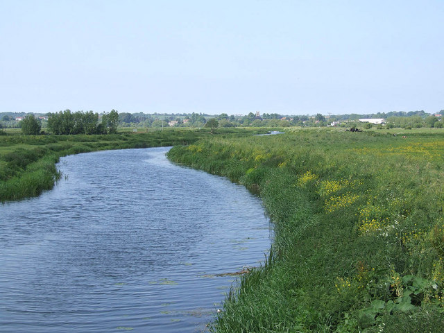 River Parrett at Westover bridge - geograph.org.uk - 443480