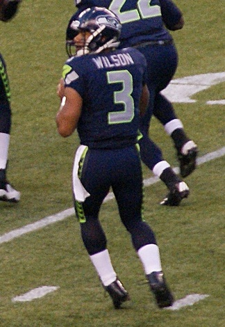 Russell Wilson with the Seahawks