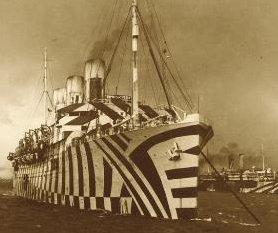 WWI troopship, SS Empress of Russia, painted i...