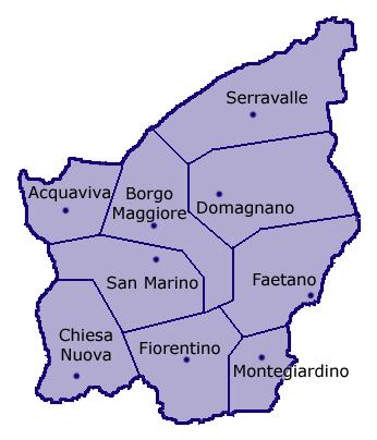 San Marino San_Marino_confini_castelli