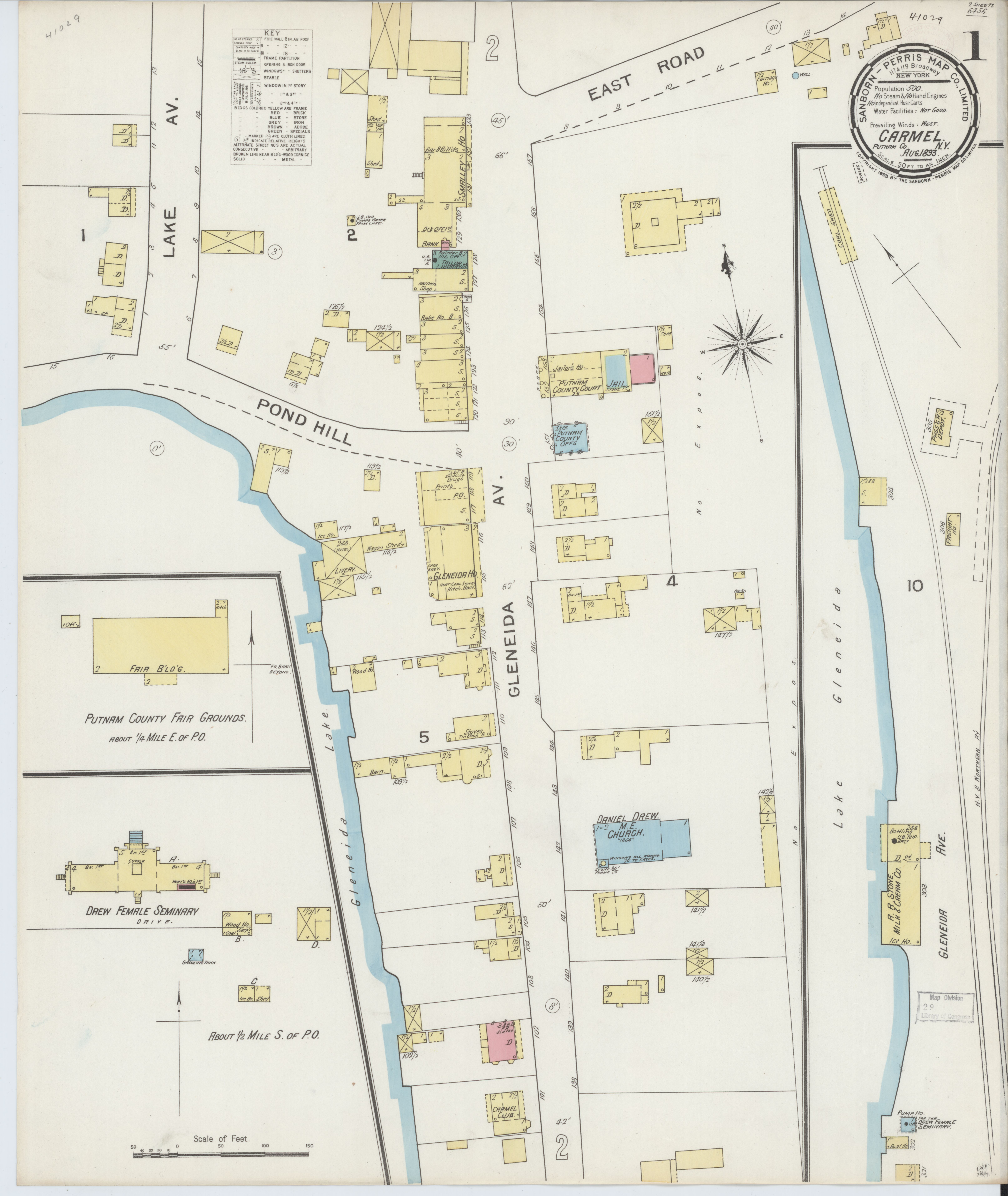 File:Sanborn Fire Insurance Map from Carmel, Putnam County, New York on