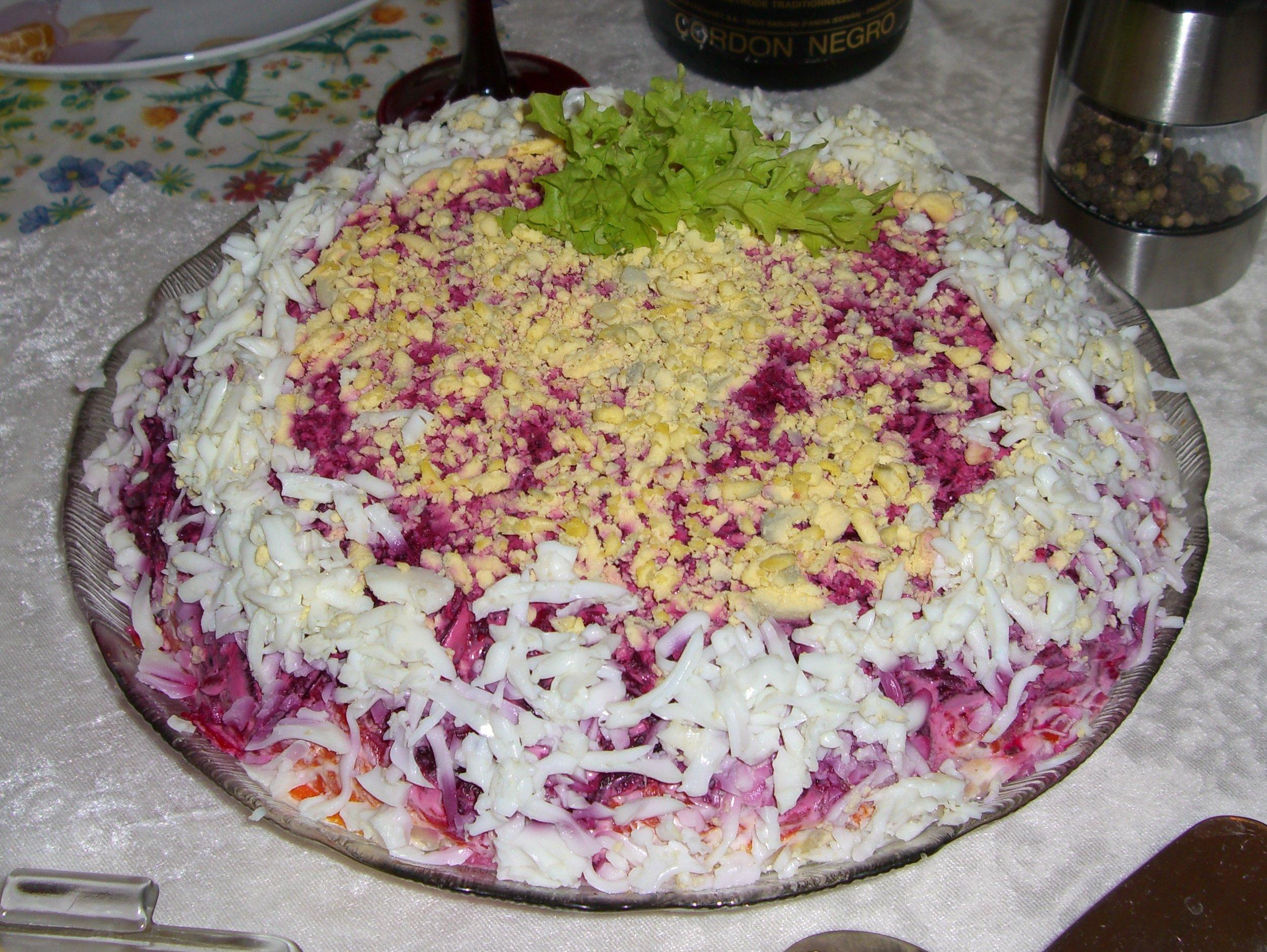 Selidi pod shuboi Сельдь под шубой – вкусный рецепт
