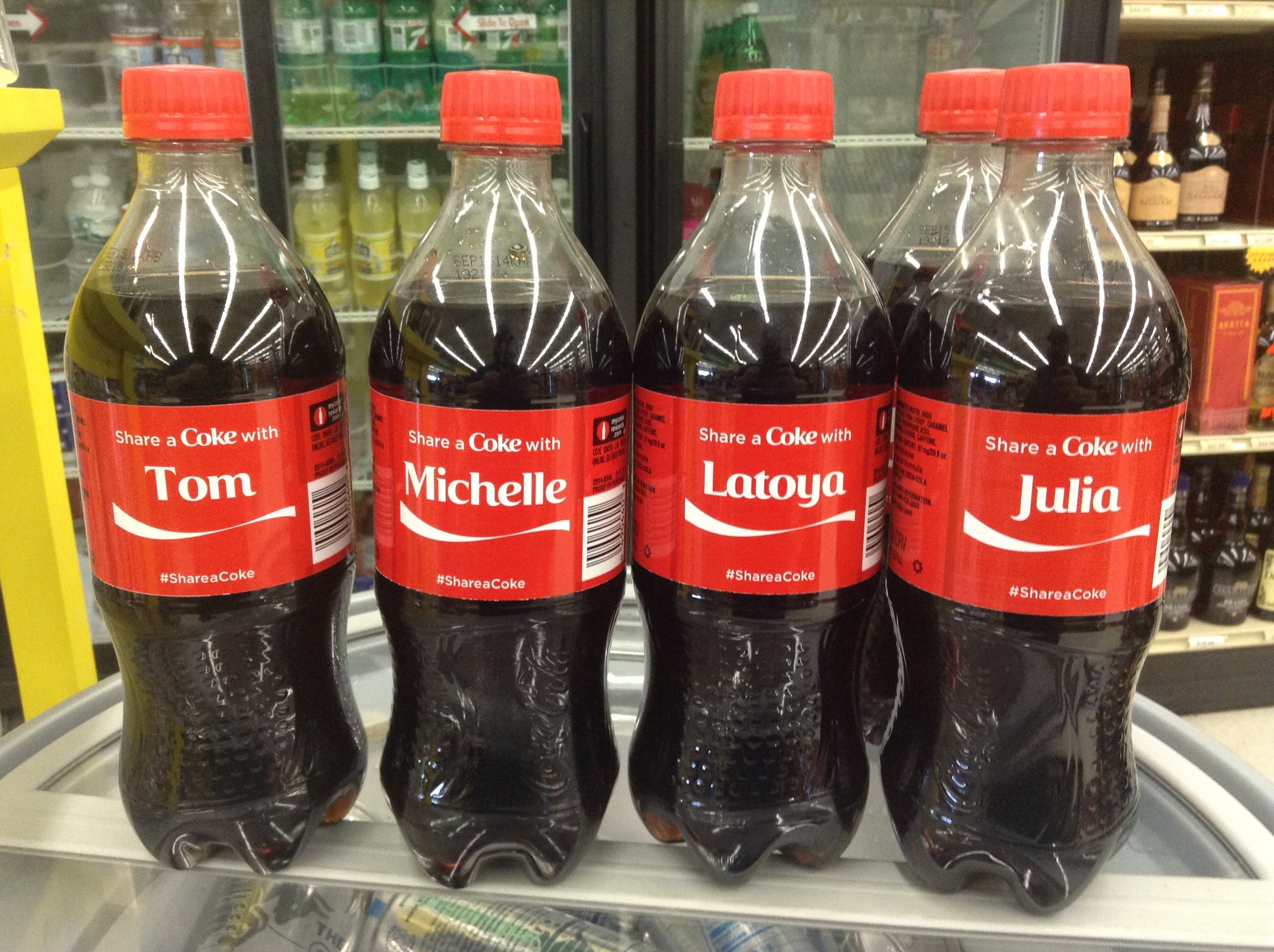 Personalized Coke bottles