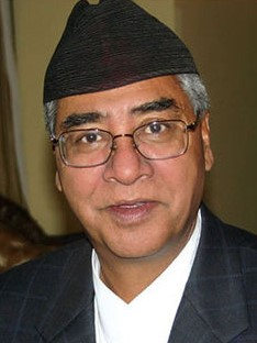Sher Bahadur Deuba Nepalese politician and the Prime Minister of Nepal, in office since 2017