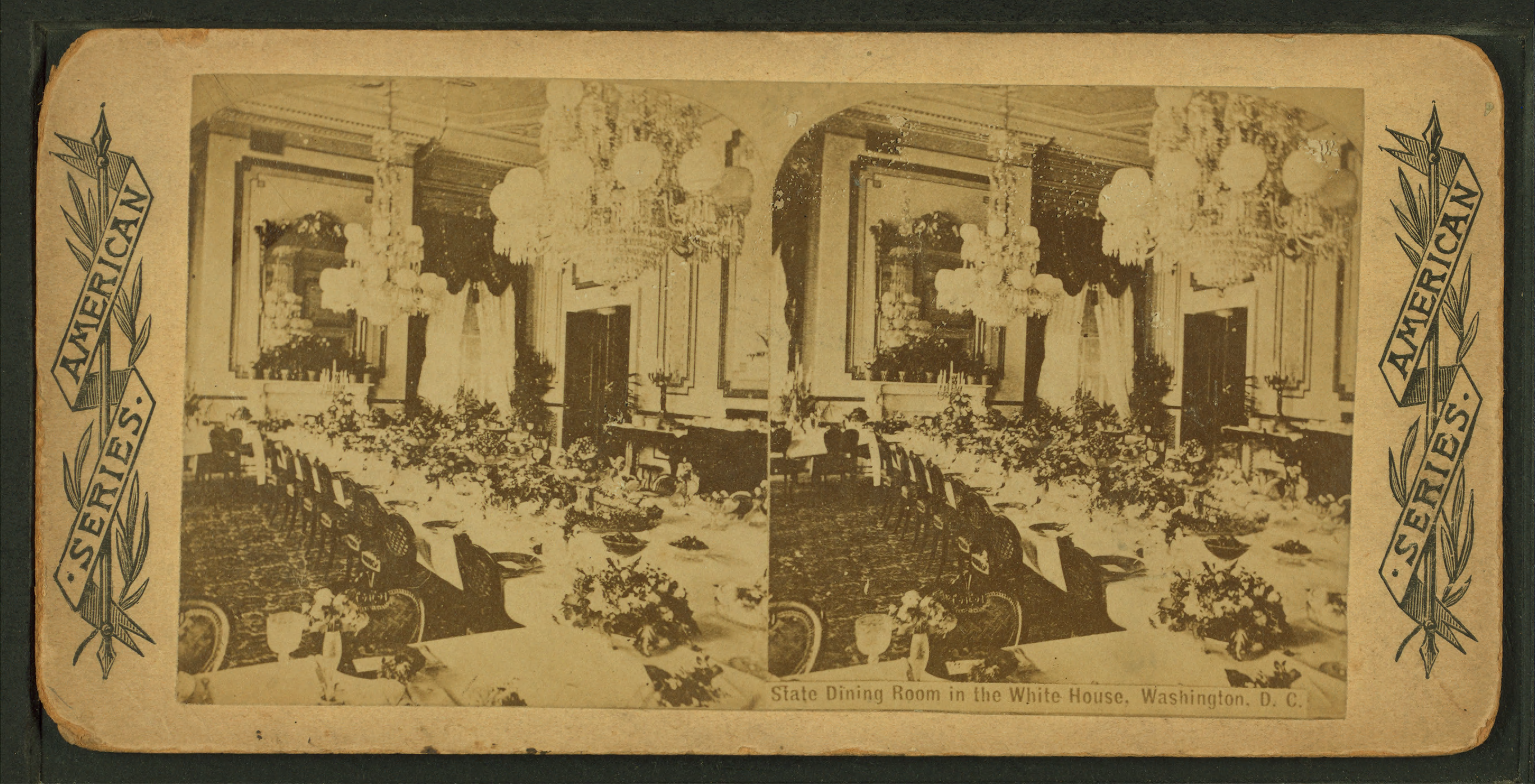 File state dining room in the white house washington d c for Dining room c house of commons