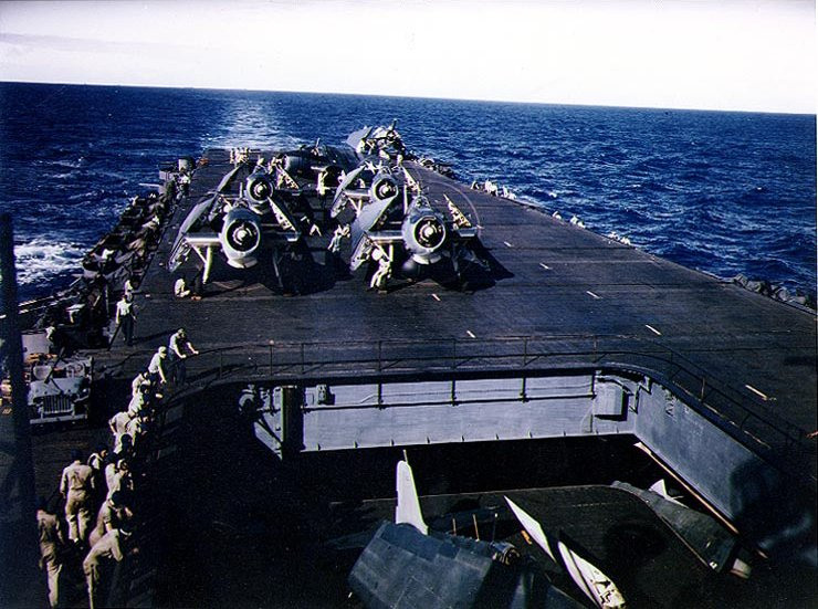 File:TBM Avengers warming up aboard USS Enterprise (CV-6), May 1944.jpg