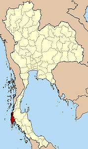 パンガー県の位置