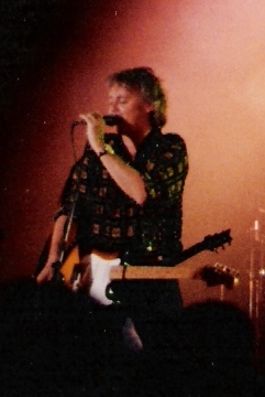 Taylor performing with the Cross in 1990.
