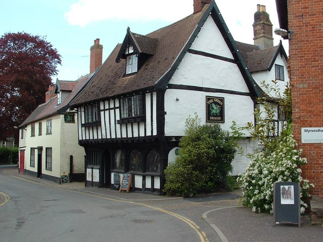 The Green Dragon Inn, Wymondham - geograph.org.uk - 1290577