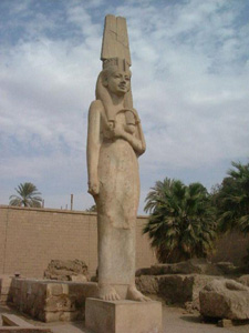 The statue of Meritamon in the temple of Min. Akhmim..jpg