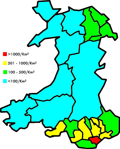 UK, Wales, Population Density.PNG