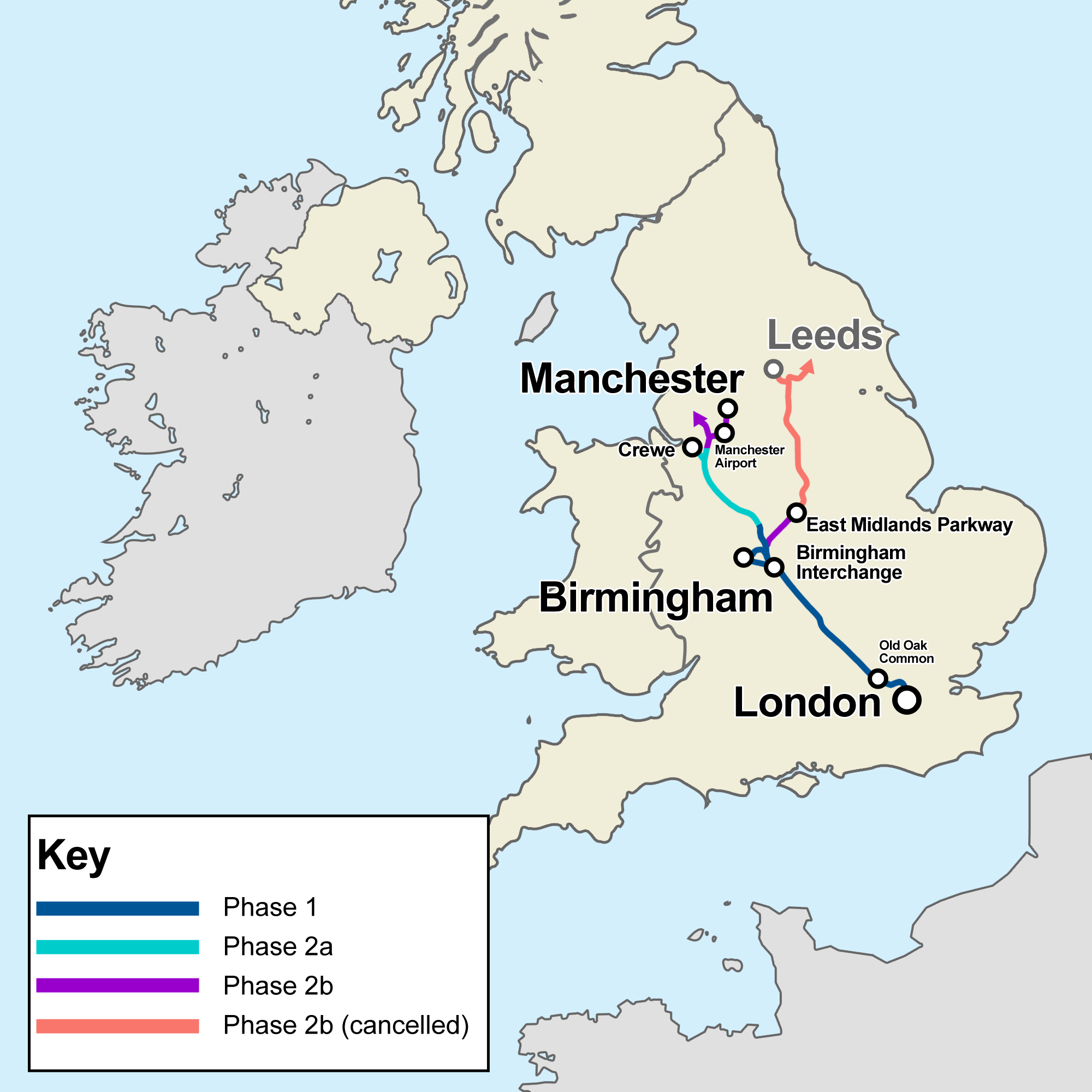 Map Of Uk Midlands.High Speed 2 Wikipedia