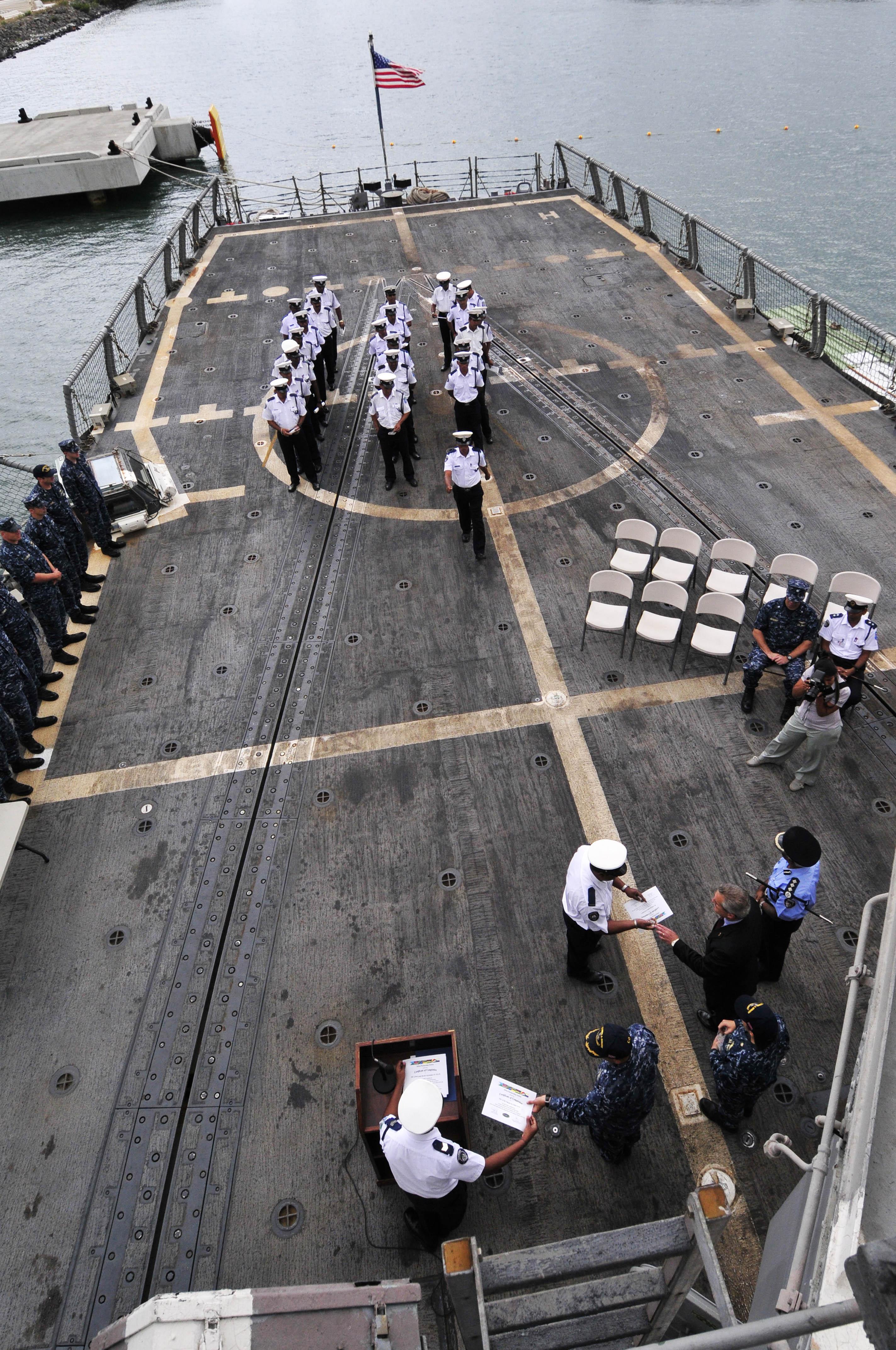 File Us Navy 110909 N Iz292 170 Members Of The Mauritius
