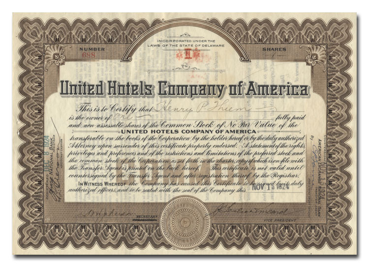 United Hotels Company of America Stock.jpeg