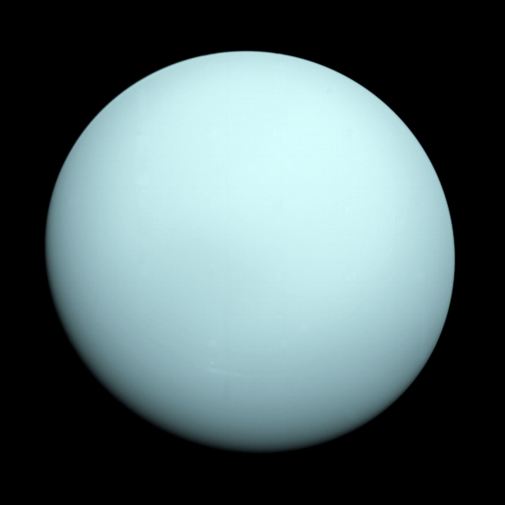 Uranus As A Featureless Disc, Photographed By Voyager 2 In 1986