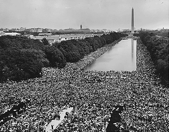 Ficheiro:View of Crowd at 1963 March on Washington.jpg