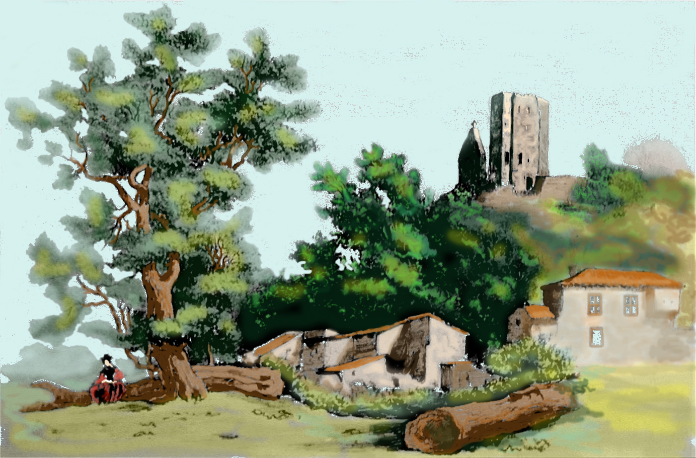 Fichier village de vals ari ge en 1875 - Village dessin ...
