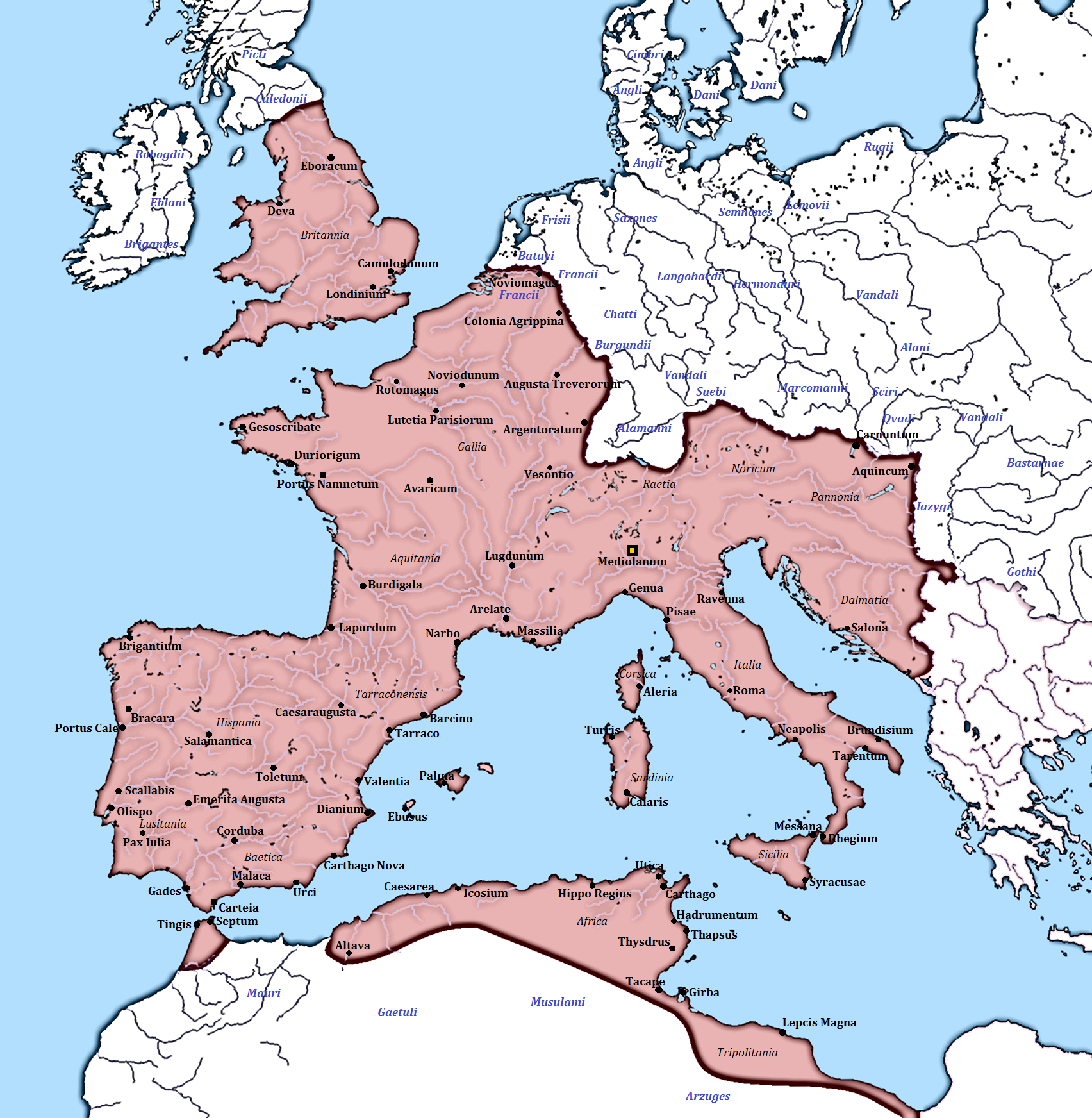 map of europe roman empire Western Roman Empire Wikipedia map of europe roman empire