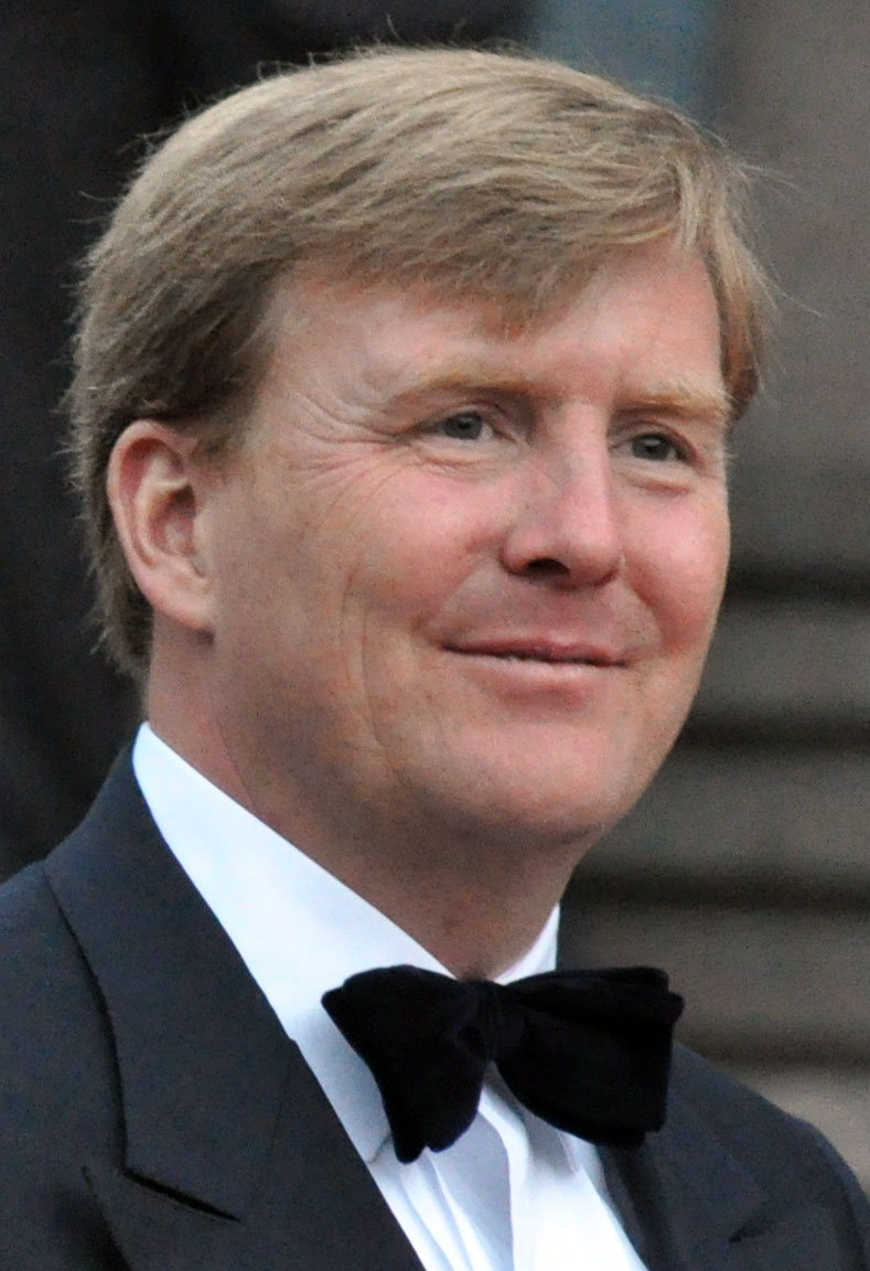 The 50-year old son of father Claus von Amsberg and mother Beatrix of the Netherlands, 193 cm tall Willem-Alexander Ferdinand in 2018 photo
