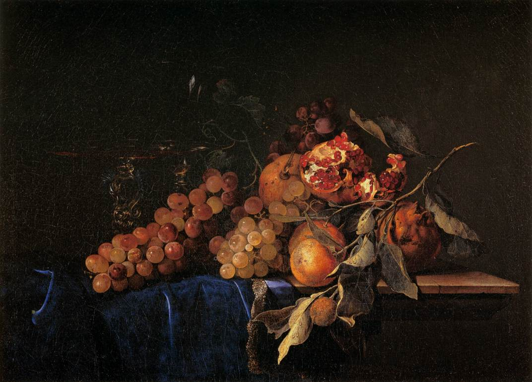 File:Willem van Aelst - Still-Life with Fruit and a ...