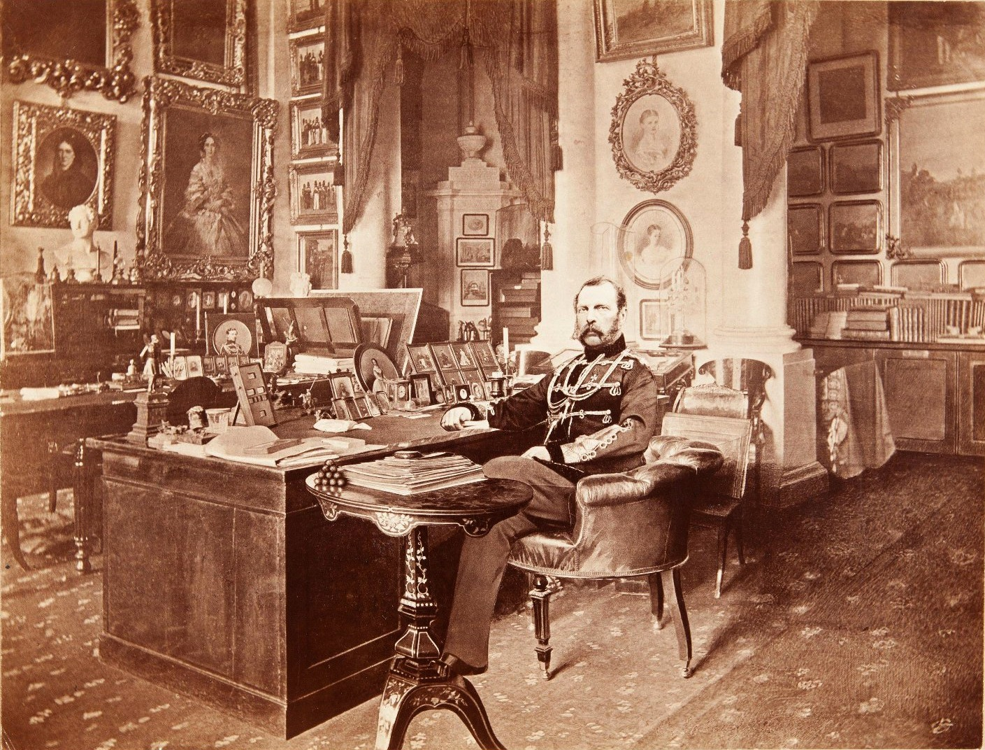 Alexander II photographed in his study (24) at the Winter Palace