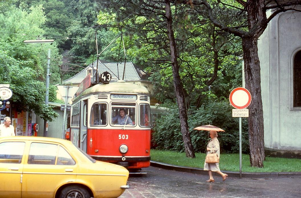 File056r23270679 Neuwaldegg Endstelle Der Strassenbahn Linie 43