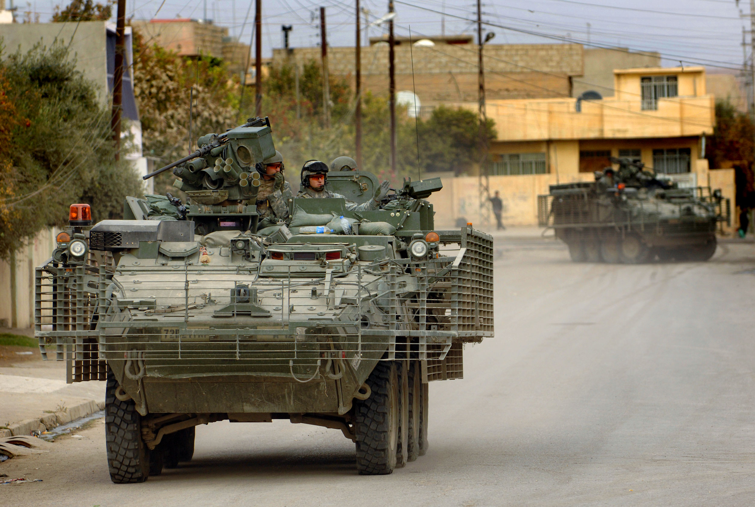 Armored Vehicles For Sale >> File:172nd Stryker Brigade in Mosul.jpg - Wikimedia Commons