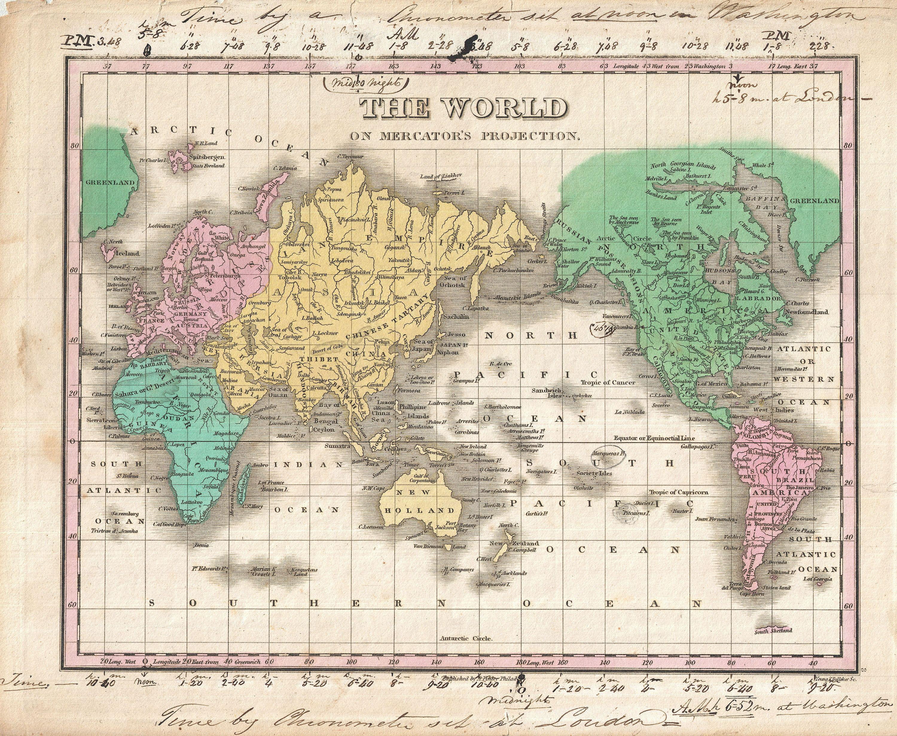 File 1827 Finley Map Of The World On Mercator S Projection