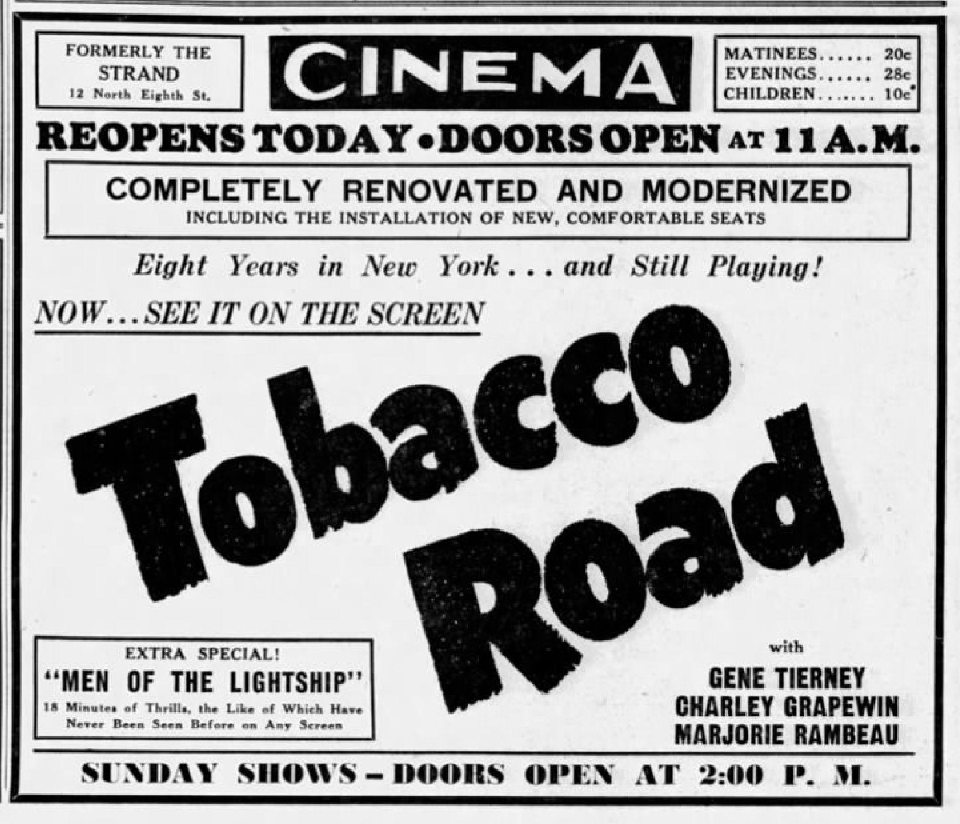 File:1941 - Cinema Theater - First - 12 Aor MC - Allentown PA jpg