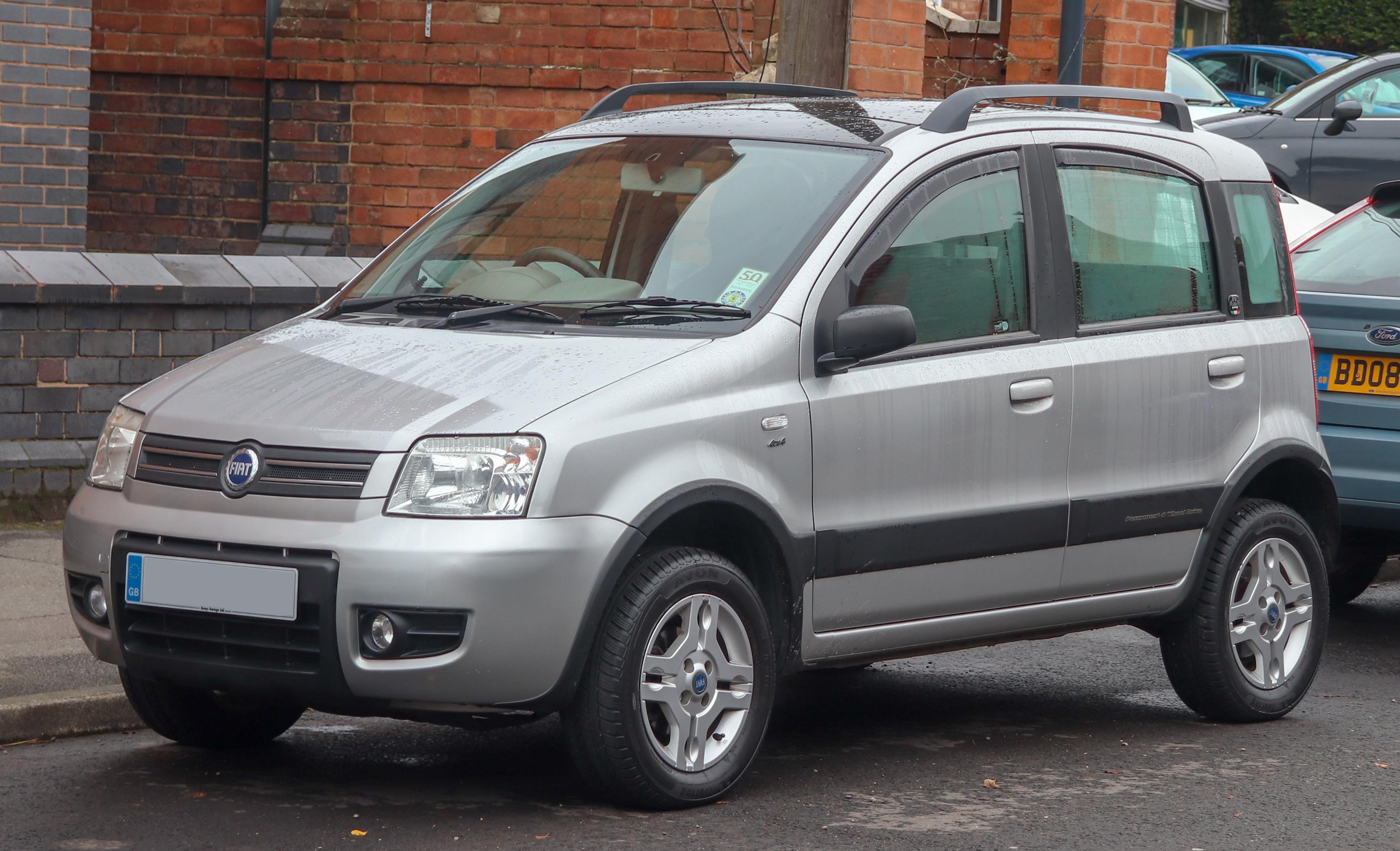 File 2005 Fiat Panda 4x4 1 2 Front Jpg Wikimedia Commons