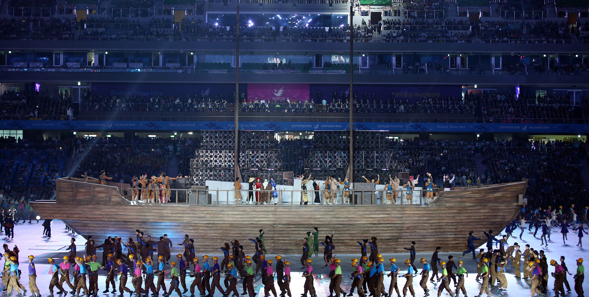 Asian games opening ceremony video