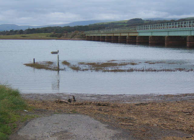 File:A high tide at Eskmeals viaduct - geograph.org.uk - 572976.jpg