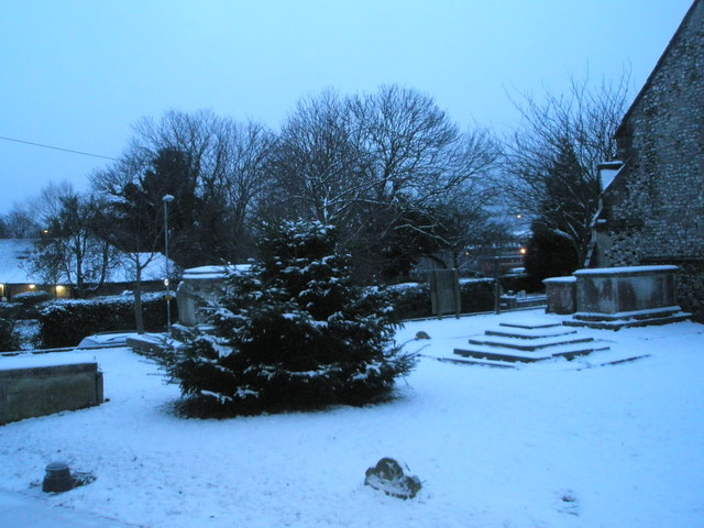 File:A snowy churchyard at St Peter and St Paul, Wymering - geograph.org.uk - 1146187.jpg