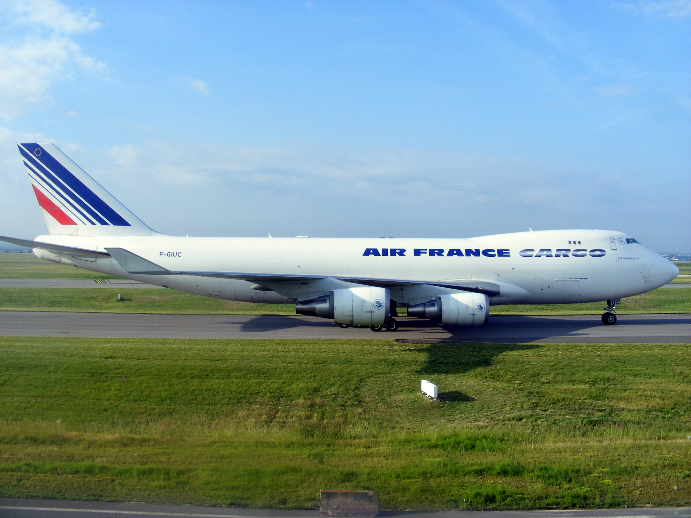 File air france cargo boeing 747 428erf f giuc paris cdg for Interieur 747 air france