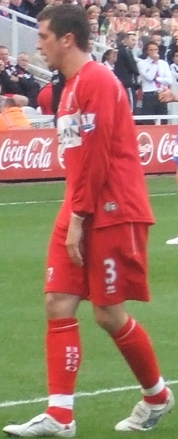 Taylor pictured playing for Middlesbrough during the 2008-09 season. Andrew Taylor 18-10-2008 1.jpg