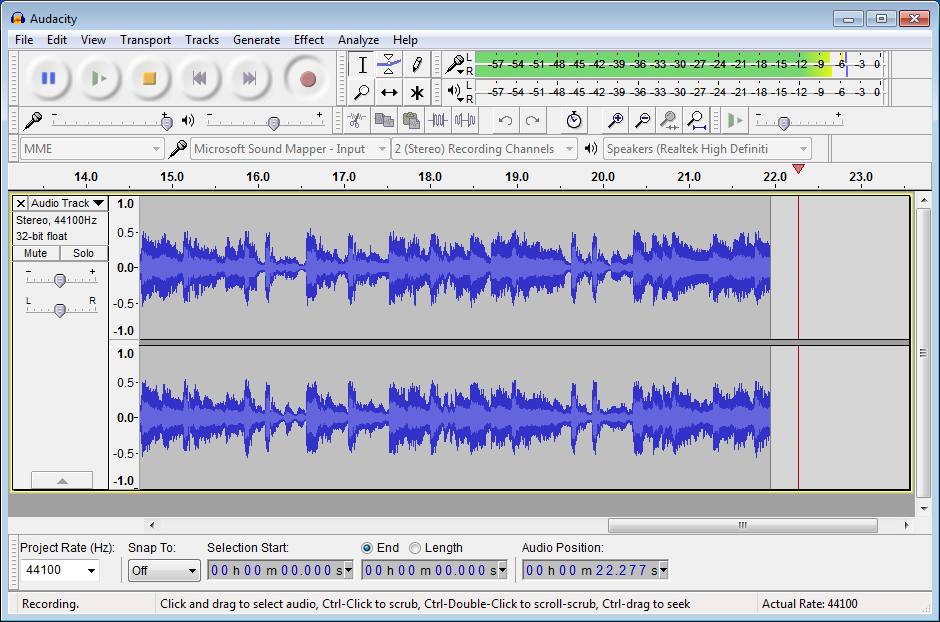 Use Audacity To Increase Natural Colume