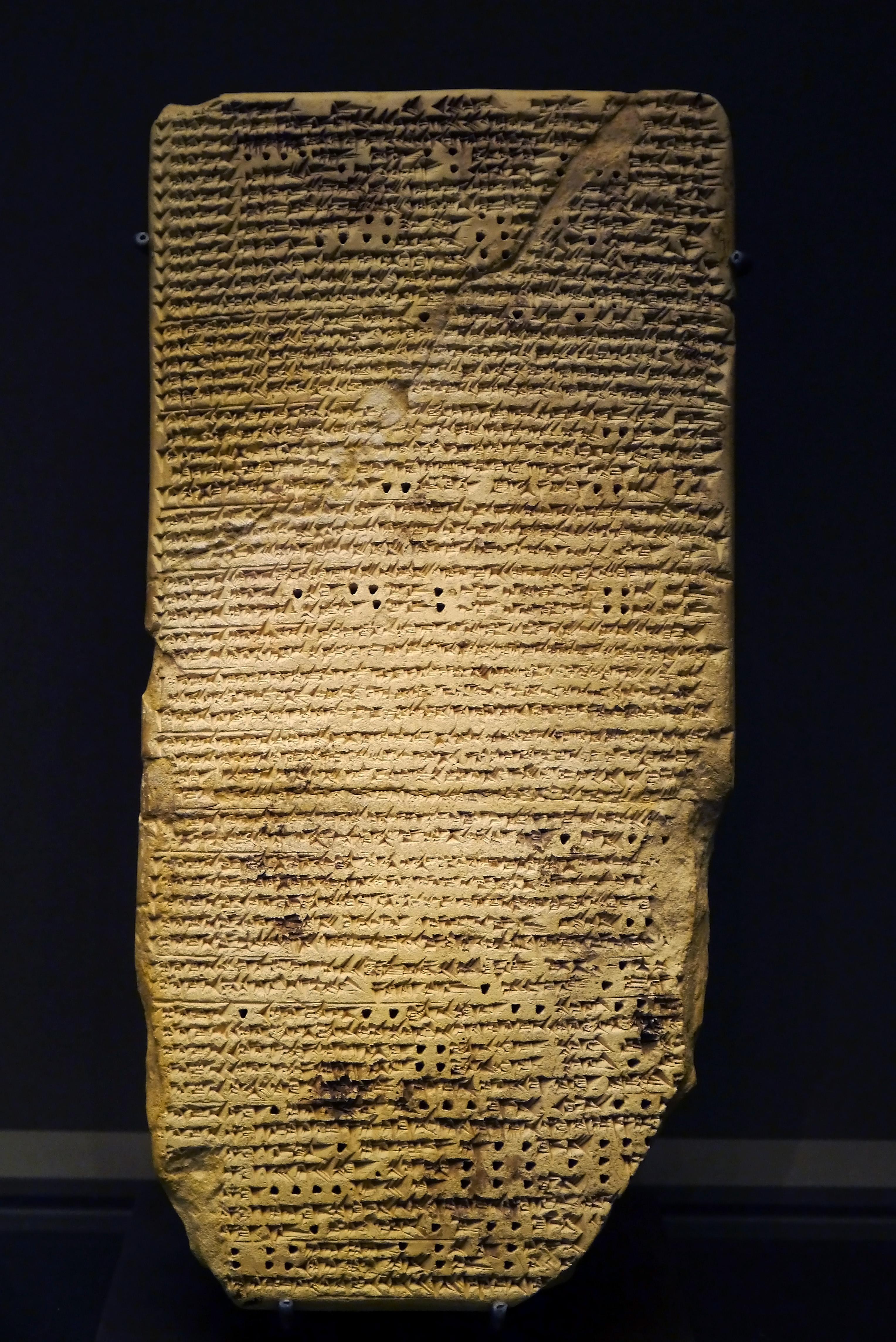 File Babylonian Astrology Treatise Louvre Near Eastern