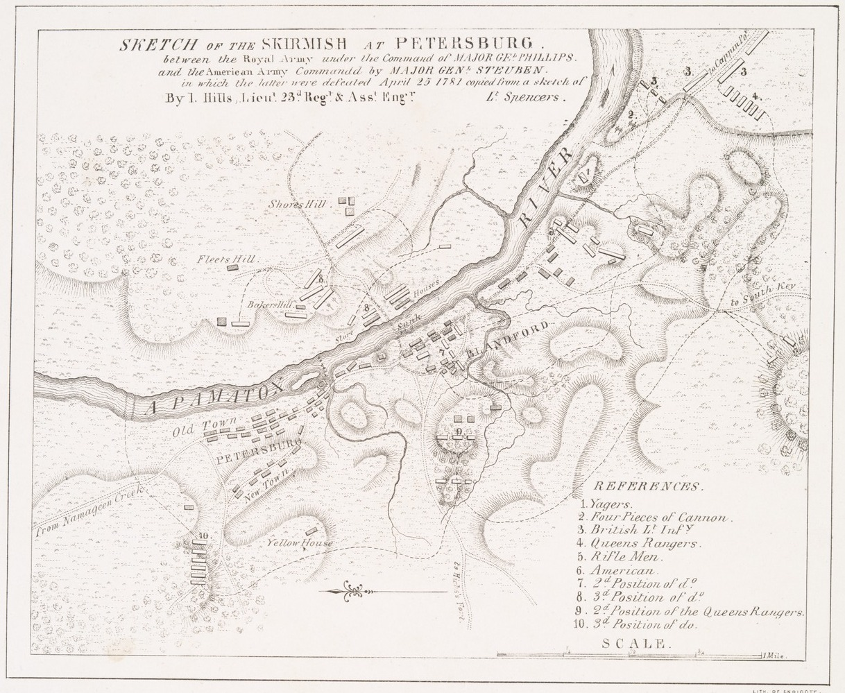 Battle Of Blandford or Petersburg 1781