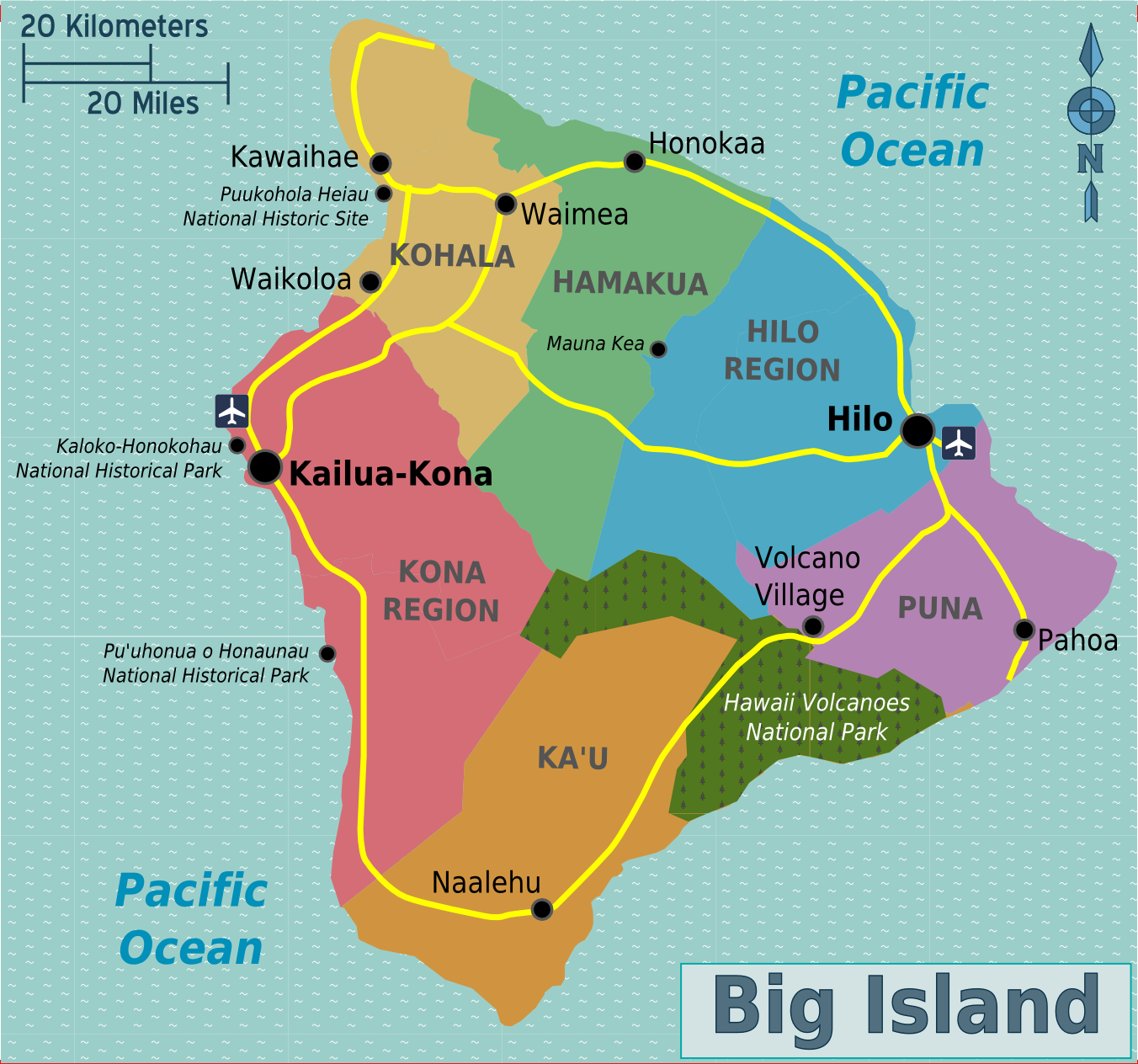 Names Of Towns On The Big Island Of Hawaii
