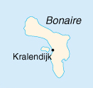 Location of Kralendijk on the island of Bonaire