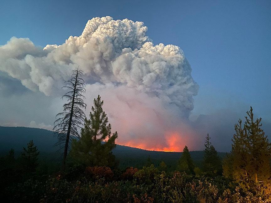 Bootleg Fire Sparks Fire Tornadoes, Sends Smoke Clouds to East Coast