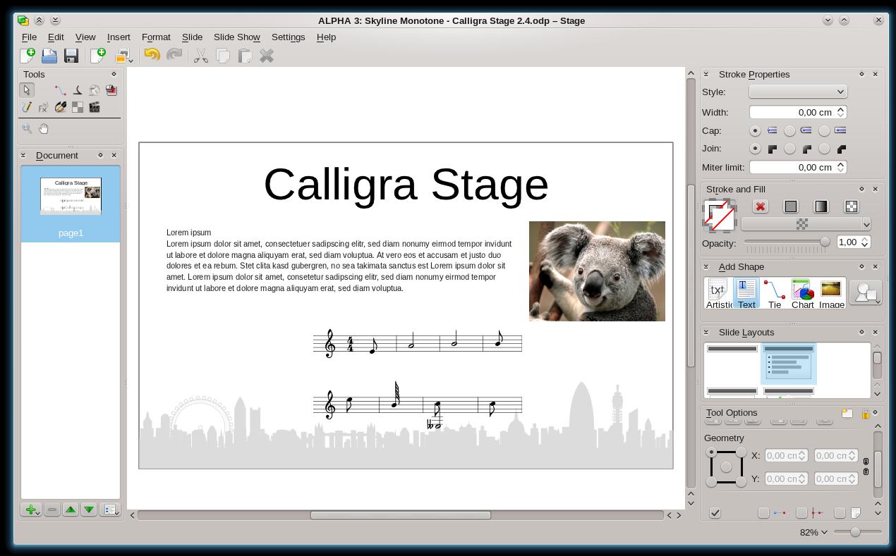 Calligra Stage