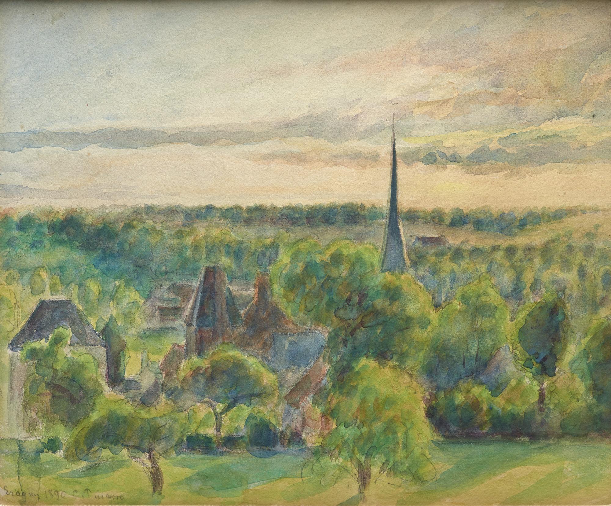 Paysage 2000 à file:camille pissarro - paysage à eragny (1890) - wikimedia commons