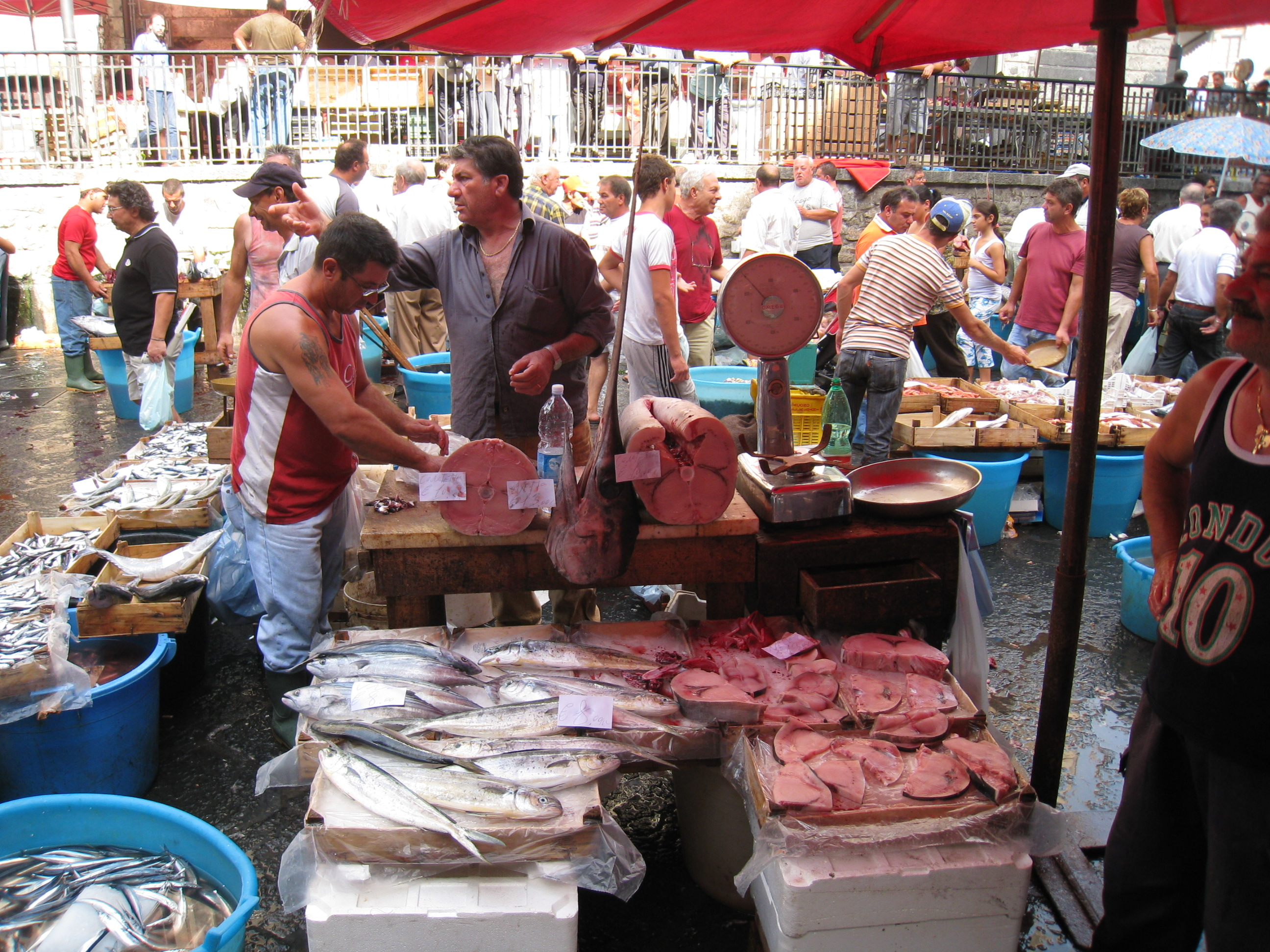 File catania pescheria fish market jpg wikimedia commons for Best fish market nyc