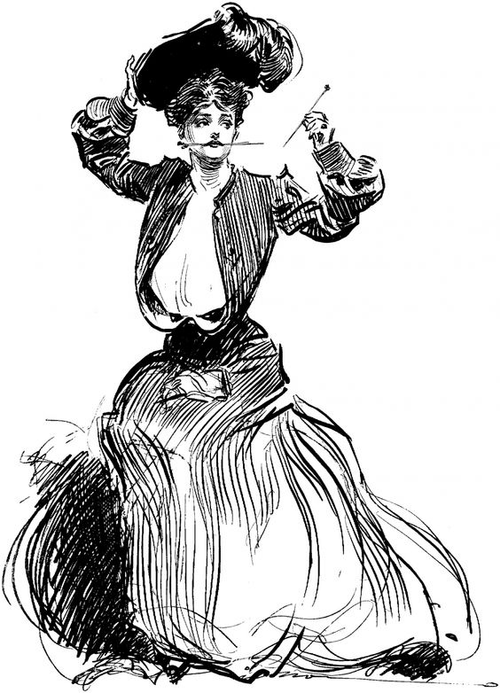 "Leamos, pues, el ""Ulises"" de James Joyce - Página 5 Charles_Dana_Gibso_hatpin_girl"
