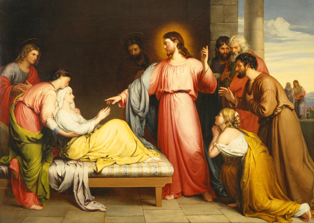 Christ Healing the Mother of Simon Peter's Wife by John Bridges.jpg
