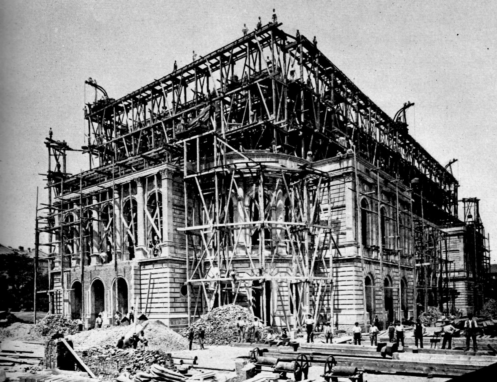 file construction of opera house 1873 to 1878 in frankfurt on the jpg wikimedia commons