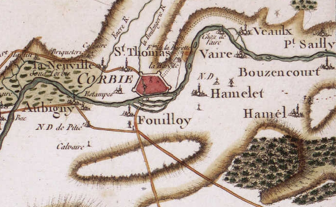 Carte CASSINI, vers 1780